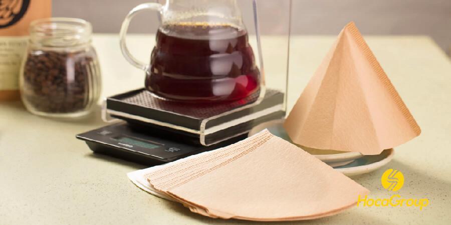 Cà phê pha bằng phin giấy không tẩy trắng