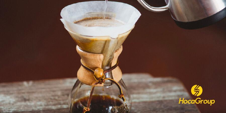 Cà phê Chemex pha bằng phin giấy đã tẩy trắng