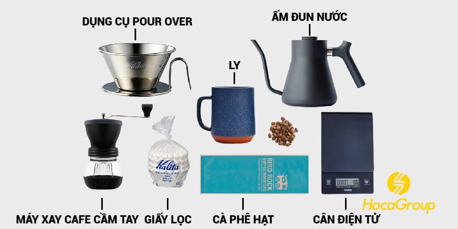 Những dụng cụ cần khi pha cà phê pour over