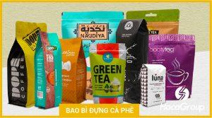 Các loại bao bì chứa cà phê khác nhau
