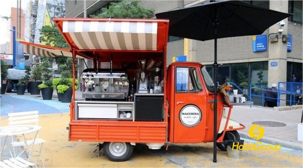 Chi phí xe cà phê take away